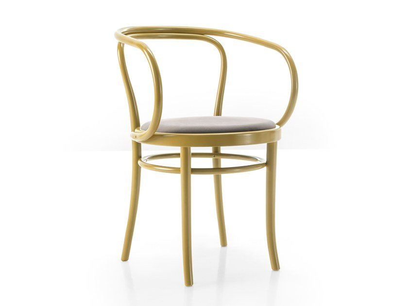 Beech chair with armrests WIENER STUHL by Wiener GTV Design