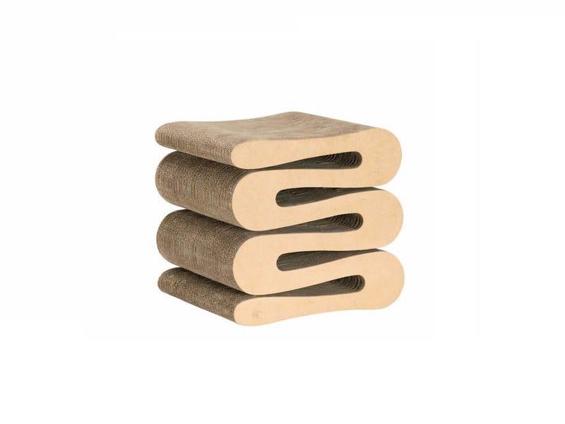 Cardboard stool WIGGLE STOOL by Vitra