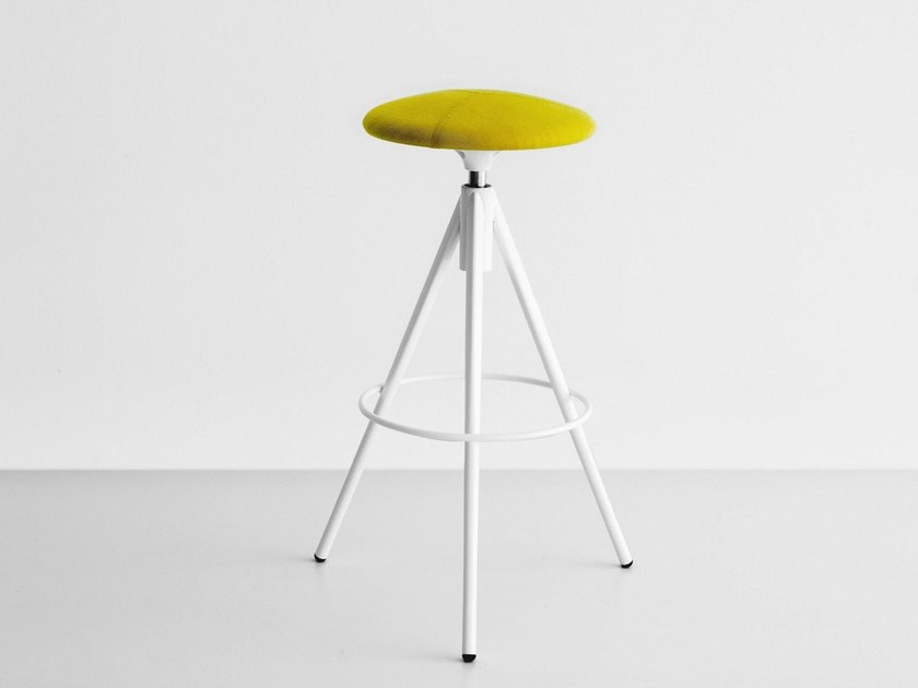 High swivel upholstered stool WIL by Lapalma
