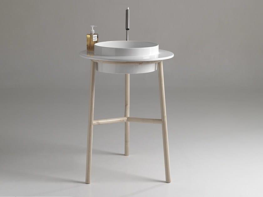 Freestanding round single ceramic washbasin WILD 600 | Freestanding washbasin by BLEU PROVENCE