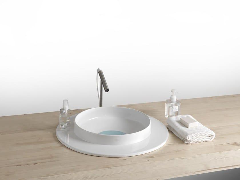 Inset round ceramic washbasin WILD 600 | Washbasin by BLEU PROVENCE