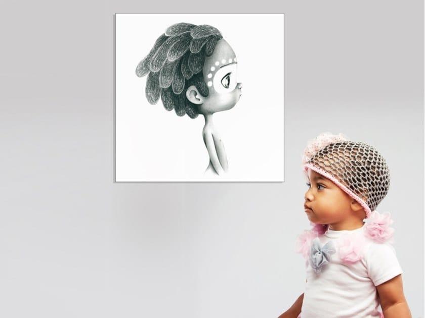 Hemp Canvas print WILD BOY by ACTE-DECO