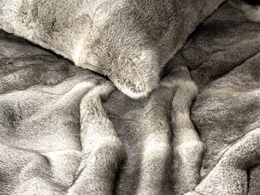 Natural fur throw and cushions WILD by Miyabi casa
