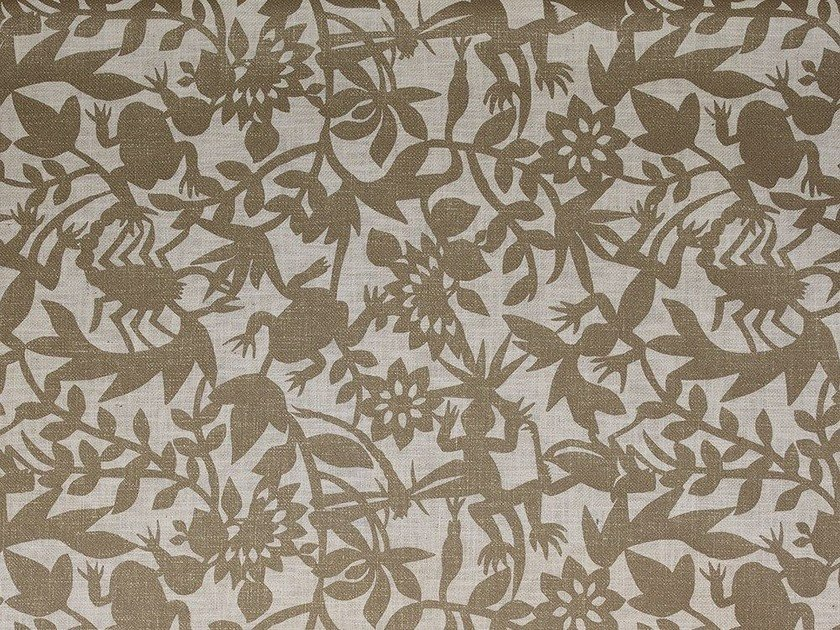 Fabric with floral pattern WILD PARTY by Dedar