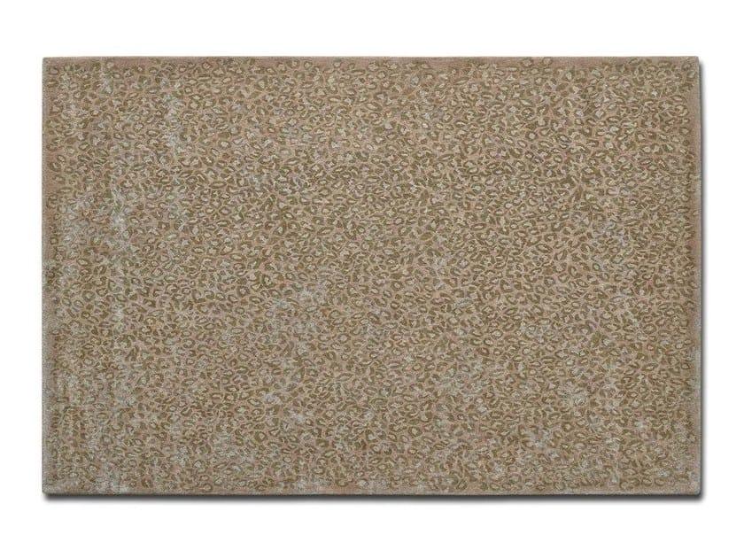 Handmade rectangular custom cotton rug WILD THING by OT Oliver Treutlein