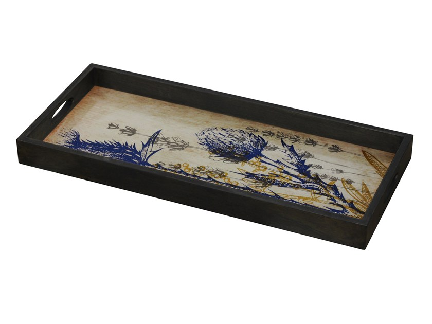 Rectangular glass tray WILD THISTLE by Notre Monde