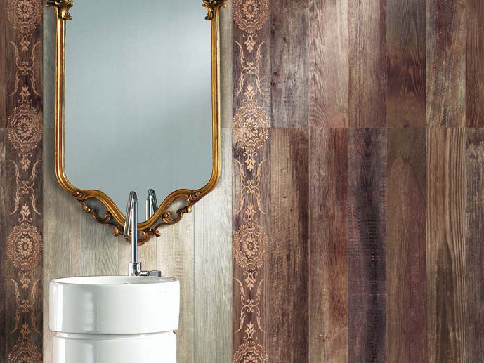Glazed stoneware wall tiles with wood effect WILD WOOD | Wall tiles by Serenissima