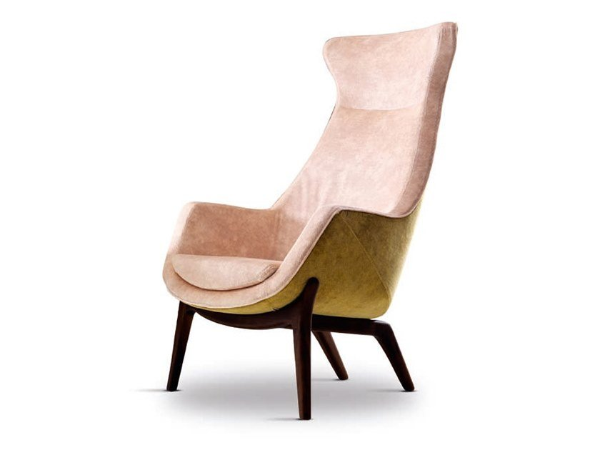 High-back armchair WILDE - 720618 | Armchair by Grilli
