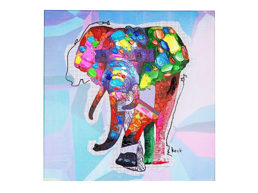 Stampa su tela in tela WILDLIFE ELEPHANT by KARE Design