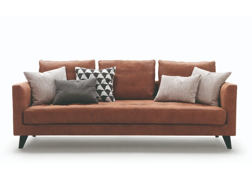 3 seater leather sofa WILLY SLIM | Leather sofa by Marac