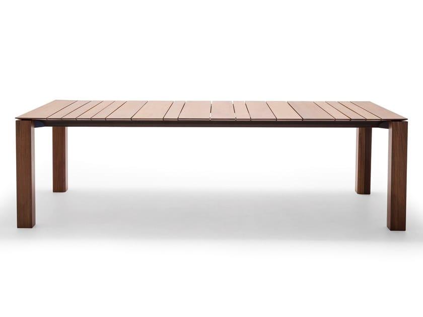 Tavolo rettangolare in legno WIND ME 5835 by Andreu World