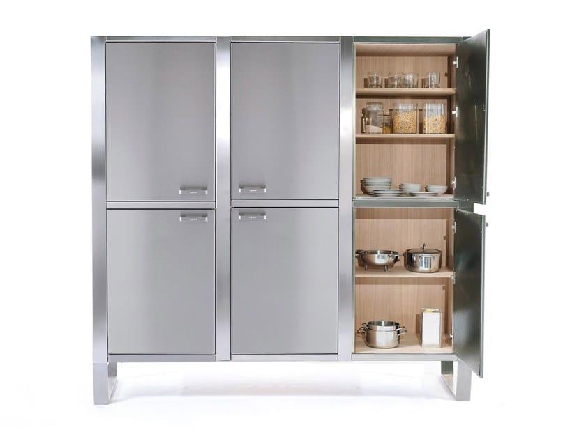 Modulo cucina freestanding in acciaio inox WINDOW C2 by Lgtek