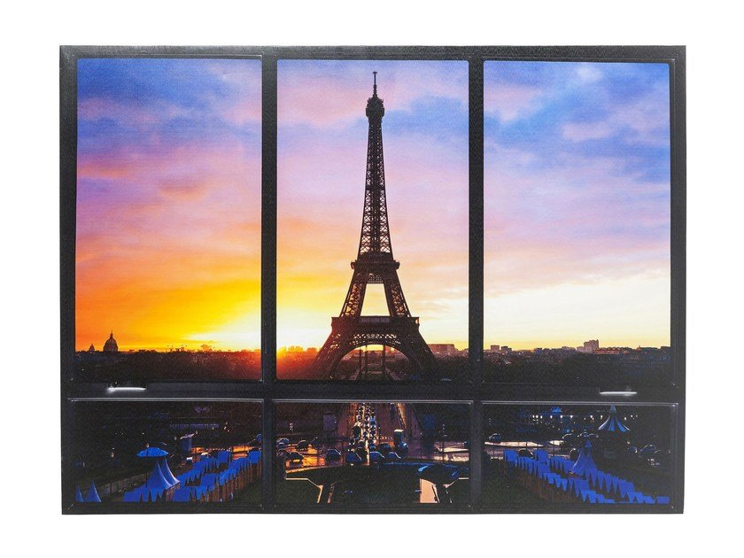 Polyester Canvas print WINDOW EIFFEL TOWER by KARE-DESIGN