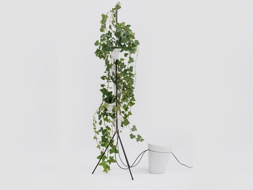 Sistema di vasi in porcellana per coltura idroponica WINDOW GARDEN SELF-STANDING by Danese Milano