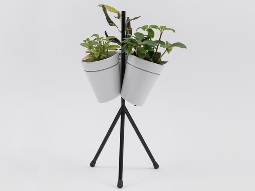 Sistema di vasi in porcellana per coltura idroponica WINDOW GARDEN TABLE by Danese Milano