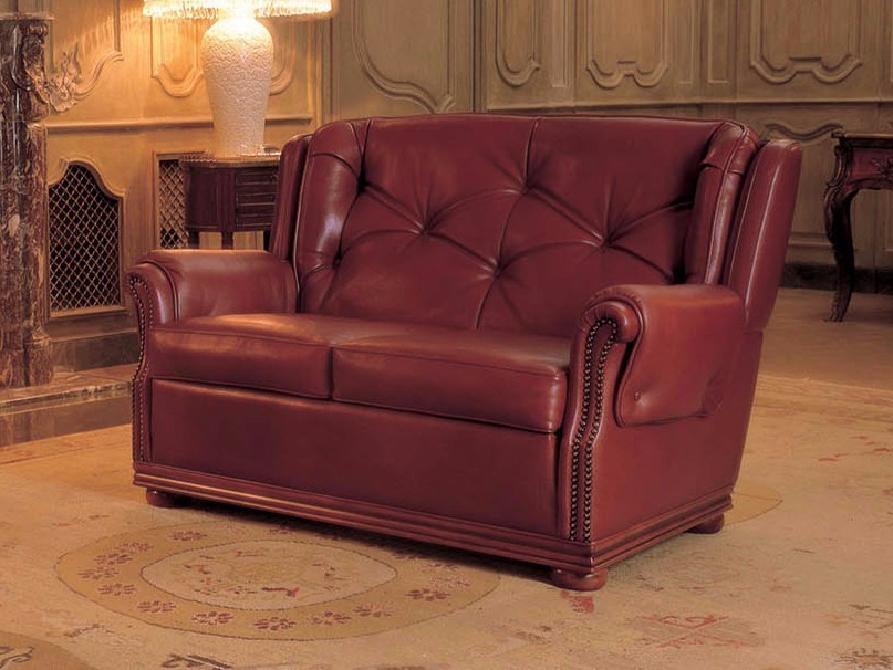 2 Seater Leather Sofa Bed Windsor By Mascheroni