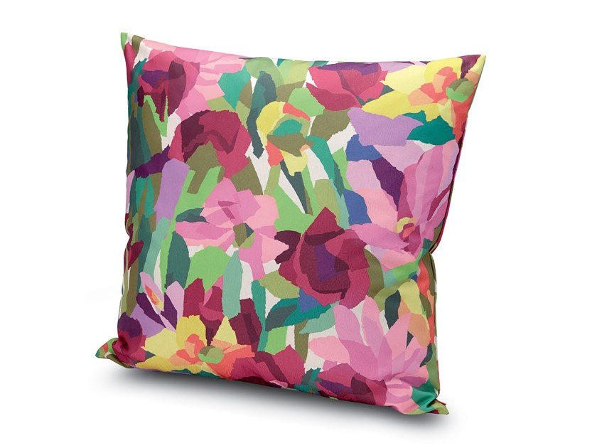 Square Trevira® CS cushion with floral pattern WINDSOR   Cushion by MissoniHome
