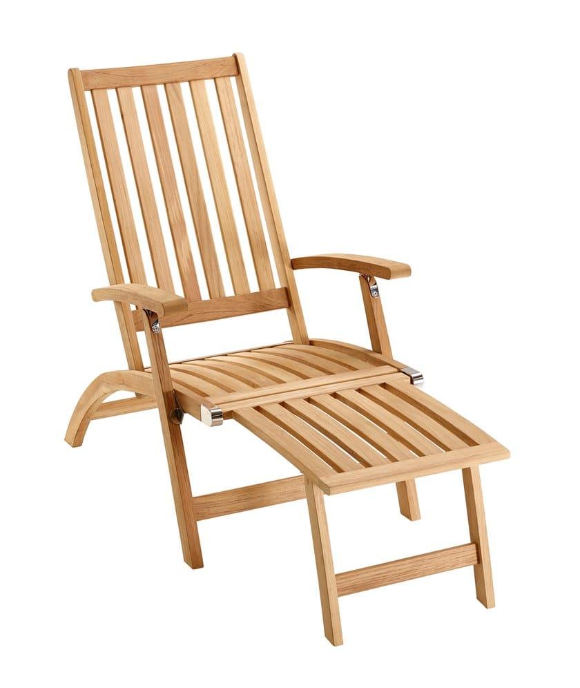 Sedie A Sdraio In Teak.Sedia A Sdraio Reclinabile In Teak Con Poggiapiedi Windsor Sedia A Sdraio Solpuri