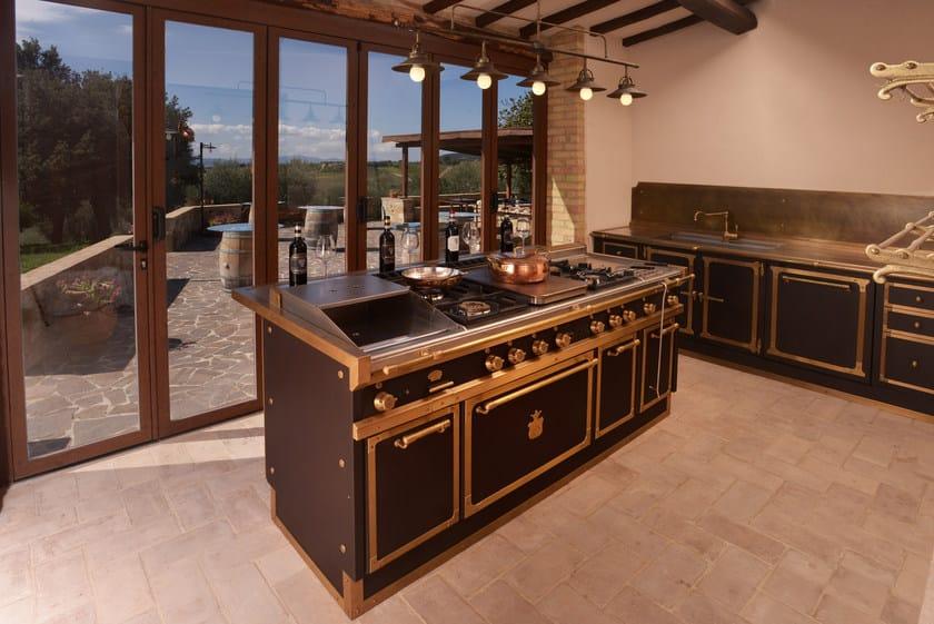 Cucina laccata con isola WINERY - Officine Gullo