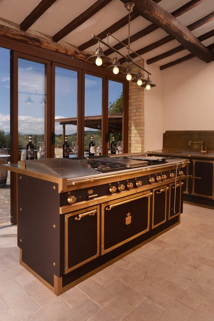 Lacquered kitchen with island WINERY By Officine Gullo