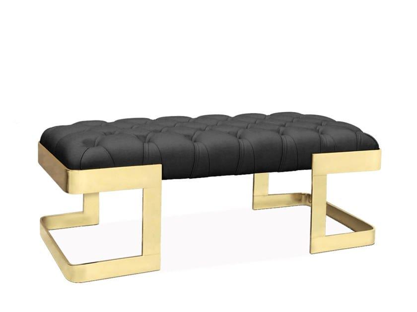 Upholstered leather bench WINFREY | Bench by Ottiu