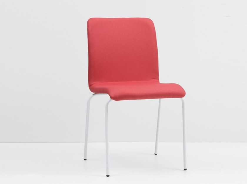 Stackable fabric chair WING 900-F by delaoliva