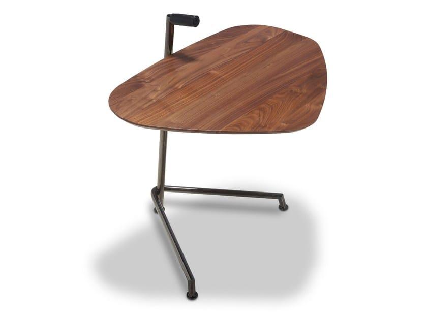 Walnut side table WING   Side table by JORI