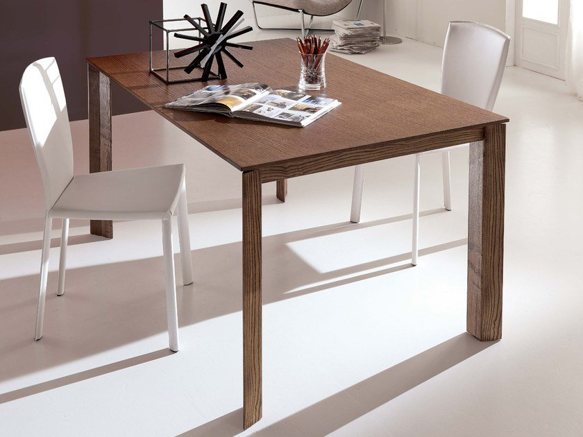 Extending solid wood dining table WING LEGNO by Ozzio Italia