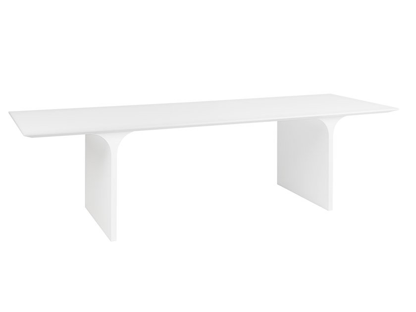 Lacquered rectangular dining table WING | Table by Maiullari