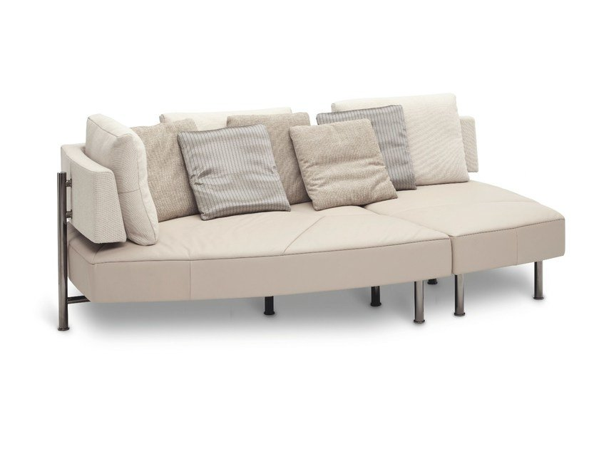 Convertible fabric sofa WING - OPEN BASE by JORI