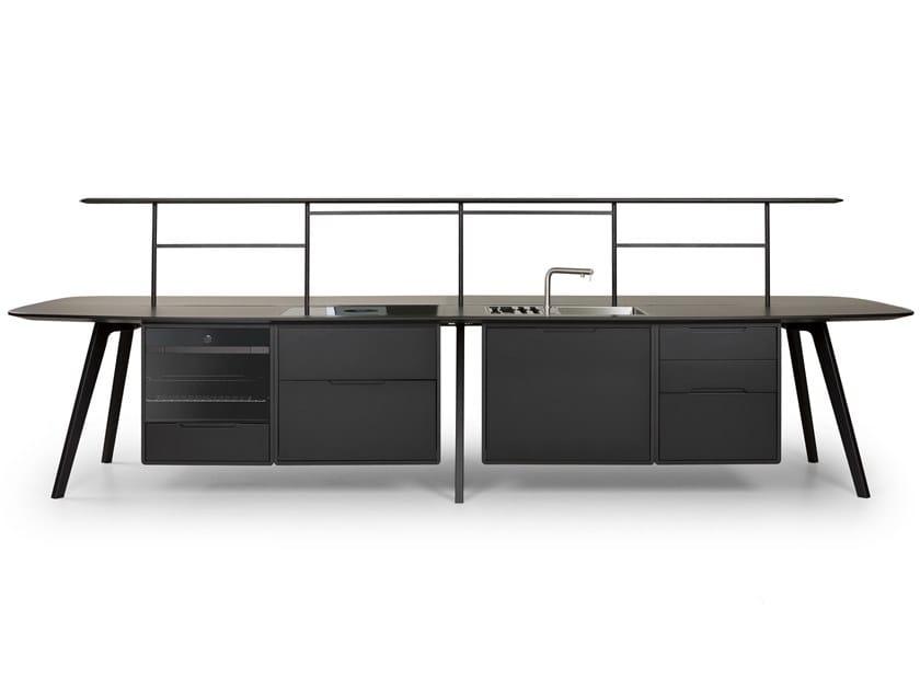 Modulo cucina freestanding in legno WING KITCHEN by True Design