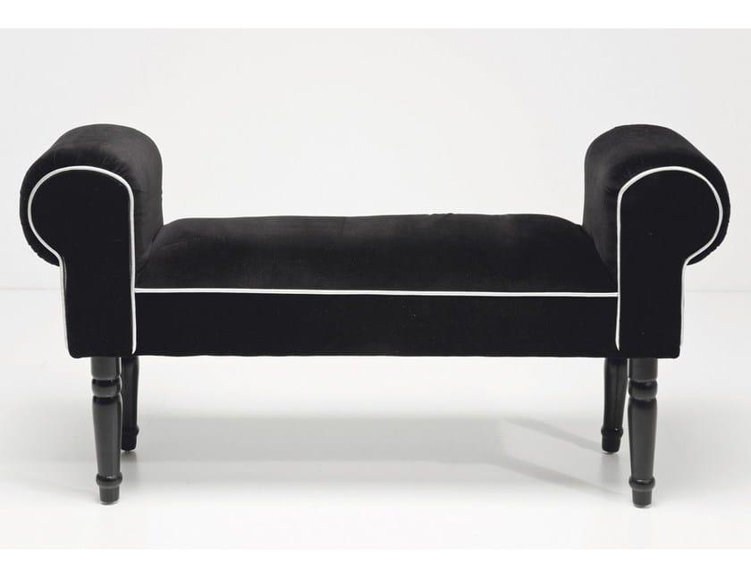 Upholstered fabric bench WING VELVET BLACK by KARE-DESIGN