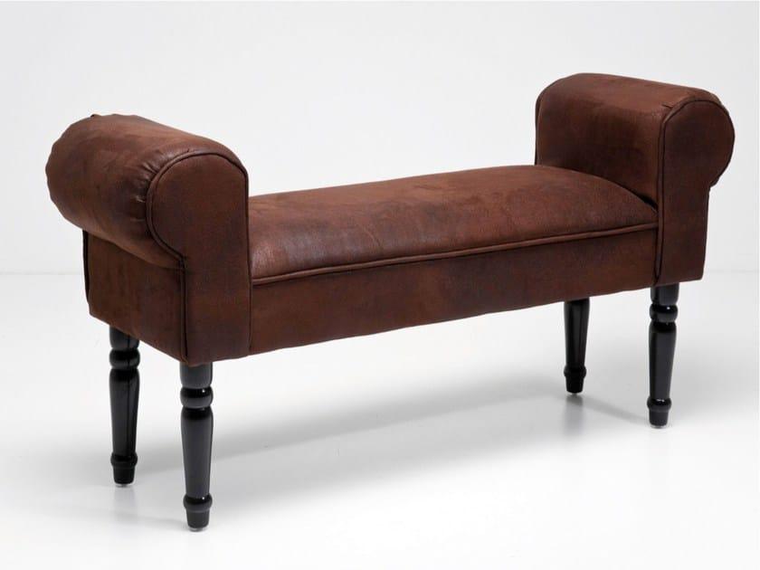 Upholstered polyester bench WING VINTAGE BROWN by KARE-DESIGN