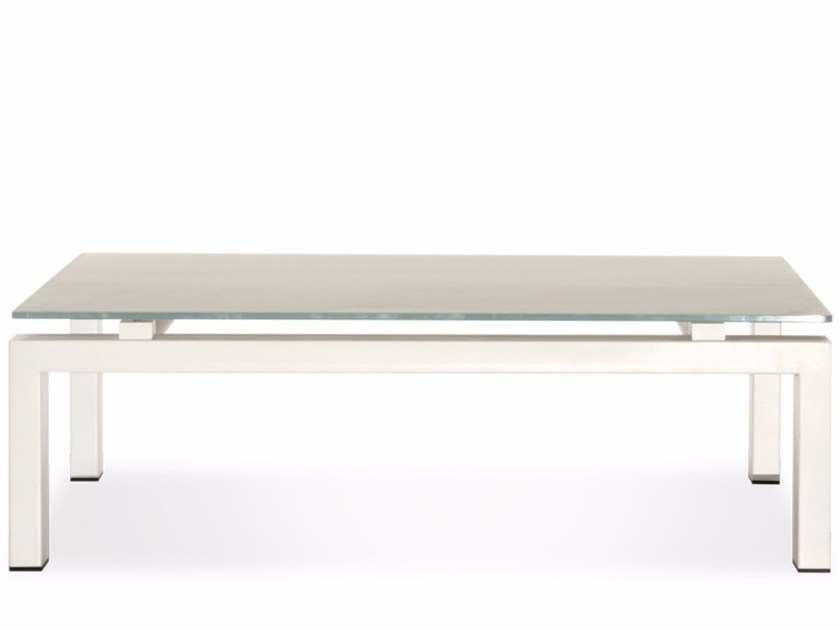 Low rectangular Xeramica coffee table WINGS | Rectangular coffee table by Joli