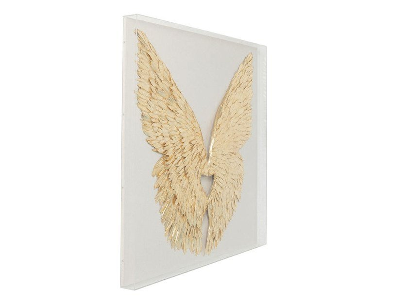 MDF wall decor item WINGS GOLD WHITE | Wall decor item by KARE-DESIGN