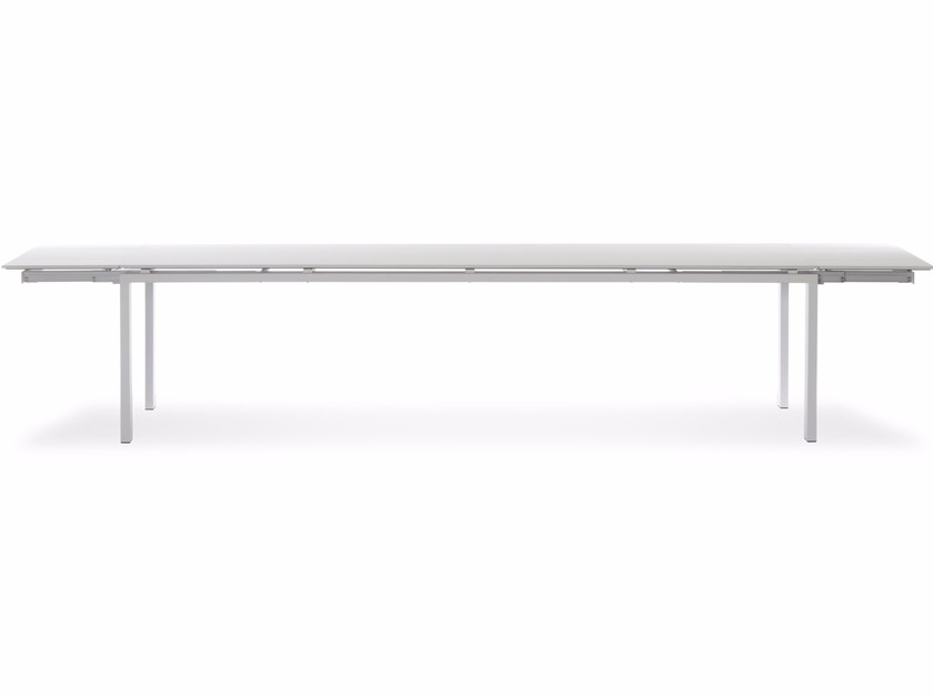 Extending rectangular Xeramica table WINGS XL by Joli