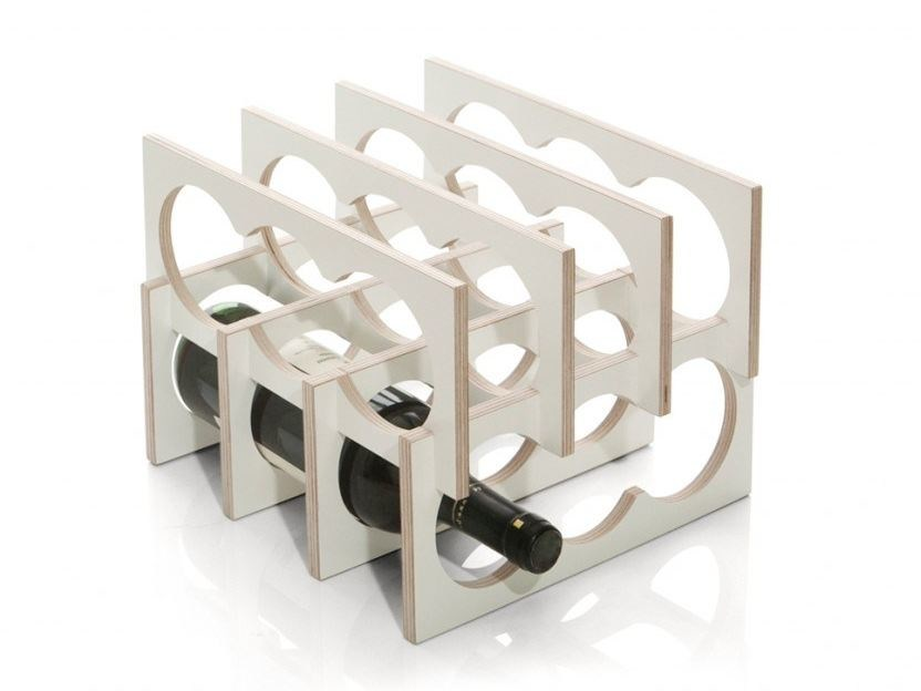 Plywood bottle rack WINIO by Tabanda