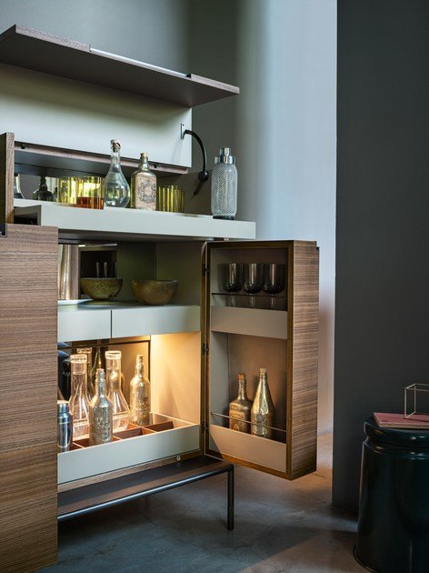 walnut bar cabinet winston by lema design christophe pillet. Black Bedroom Furniture Sets. Home Design Ideas