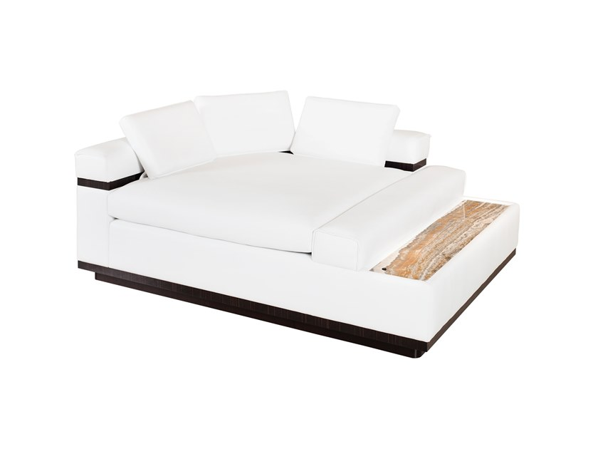 Upholstered leather day bed WINTER by Green Apple