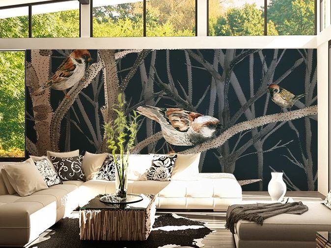 Washable vinyl wallpaper WINTERVOGEL by GLAMORA