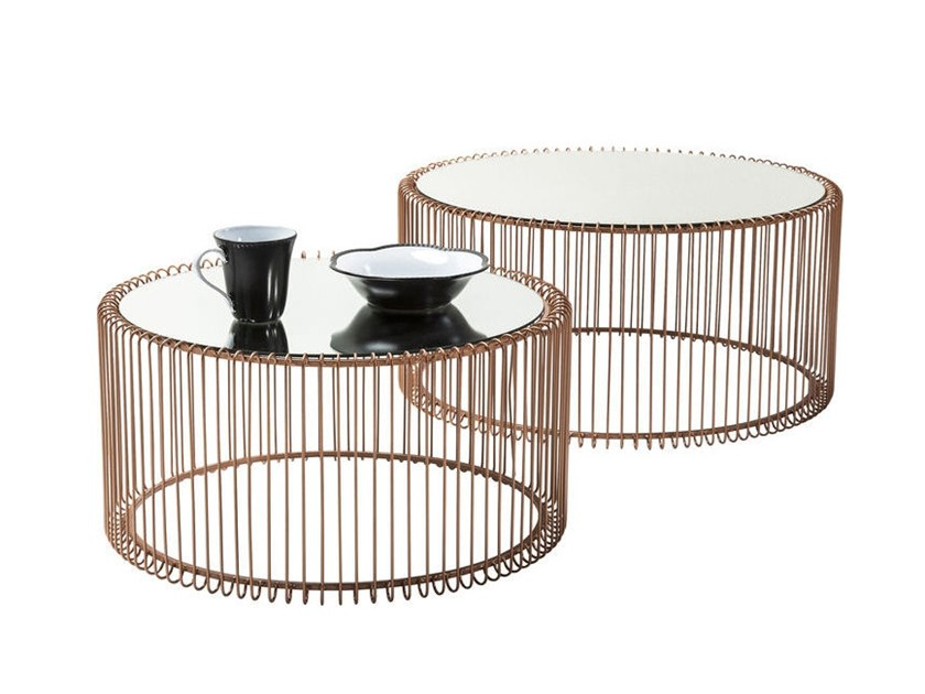 Wire Copper Coffee Table By Kare Design