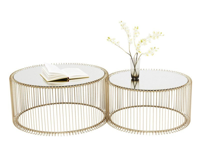 Round coffee table for living room WIRE | Coffee table for living room by KARE-DESIGN
