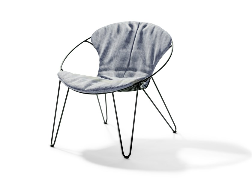 Upholstered stackable fabric easy chair WIRE | Fabric easy chair by Joli