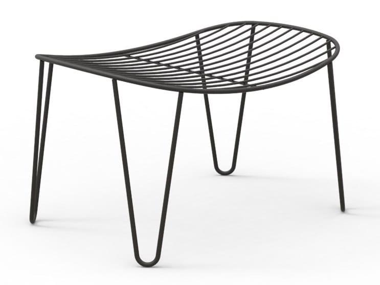 Stainless steel footstool WIRE | Footstool by Joli