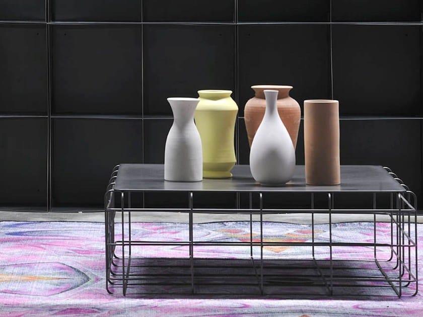 Da In Wire Design Tavolino Salotto Ronda Quadrato Metallo wOnP0k