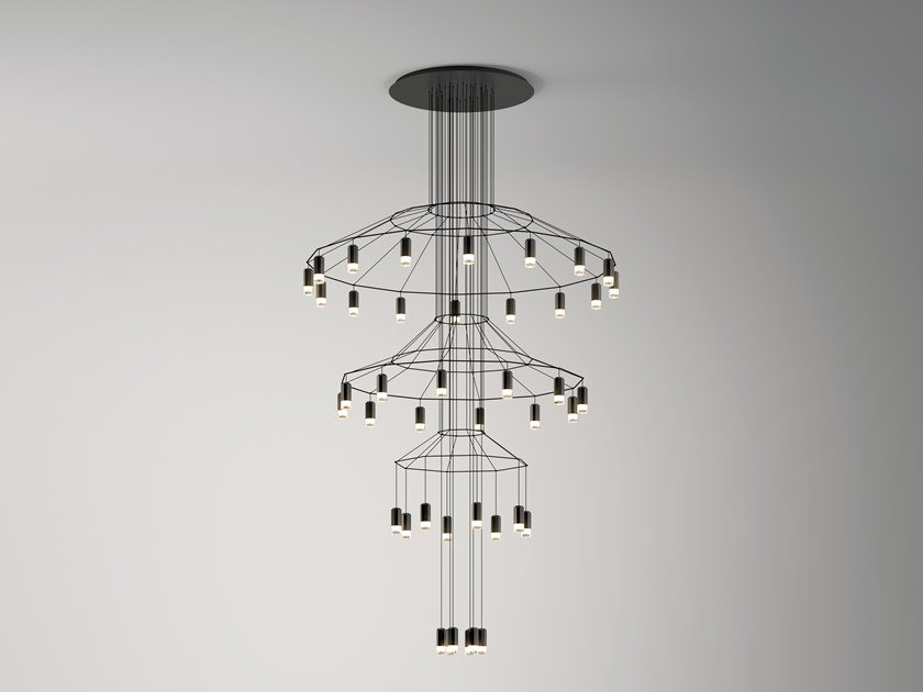 LED pendant lamp with dimmer WIREFLOW CHANDELIER | Pendant lamp by Vibia