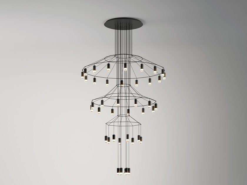 Lampada a sospensione a LED con dimmer WIREFLOW CHANDELIER | Lampada a sospensione by Vibia