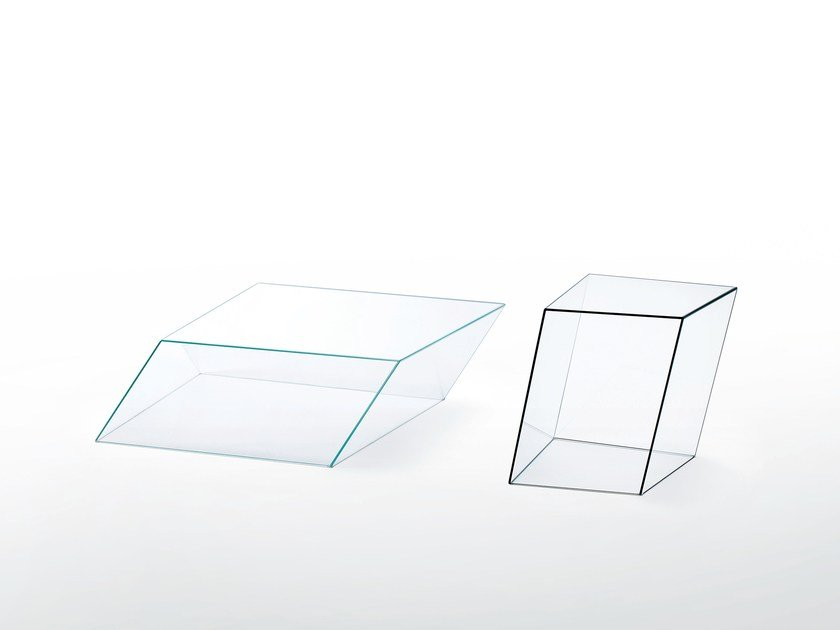 Wire Frame Coffee Table.Rectangular Crystal Coffee Table Wireframe By Glas Italia Design