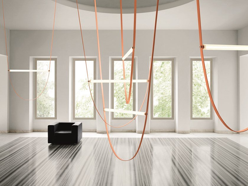LED rubber and glass pendant lamp WIRELINE by Flos