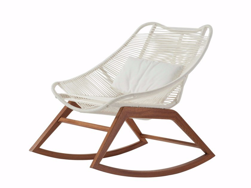 Rocking Rope Armchair WISHBONE | Rocking Armchair By ROCHE BOBOIS